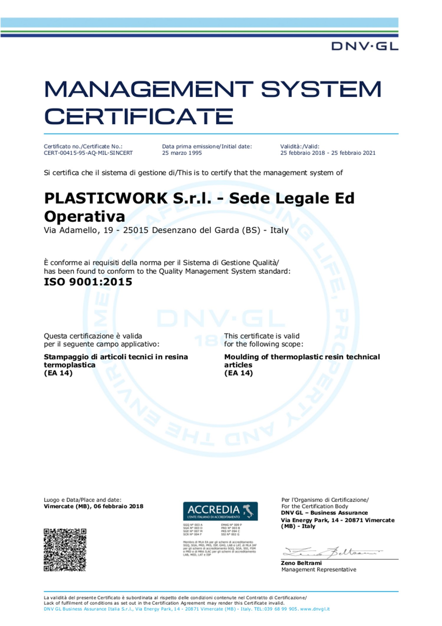 Plasticwork Has Acquired The Most Important Industry Certifications
